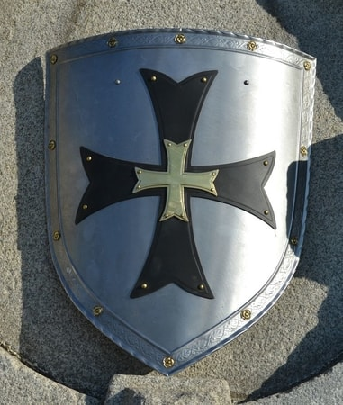 GOTHIC, decorative shield with the cross