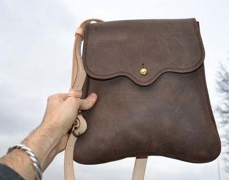 Leather Pilgrim Bag After Eduard Wagner 14 15 Century