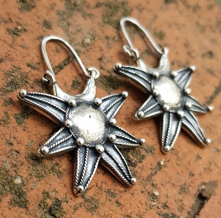 NOVGOROD, EARLY MEDIEVAL VIKING - SLAVIC EARRINGS, SILVER