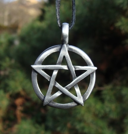Pentacle Pendant In A Circle Wulflund Com