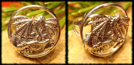 DRAGON FANTASY RING, silver