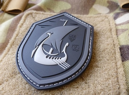 DRAKKAR DRAGON SHIP AT NIGHT, 3D velcro patch