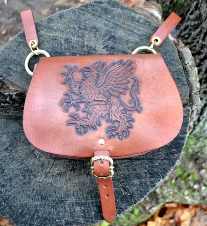 GRIFFIN, medieval leather bag