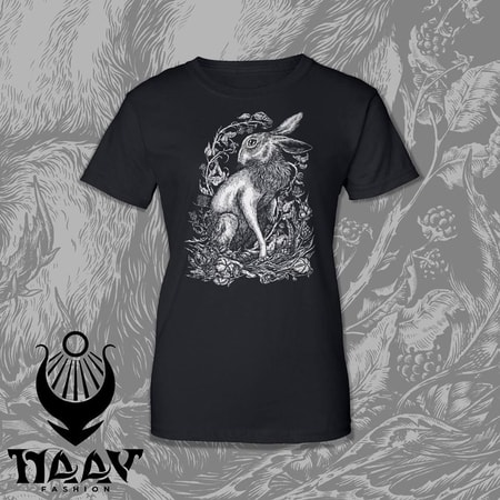 HARE, women's T-shirt black, druid collection