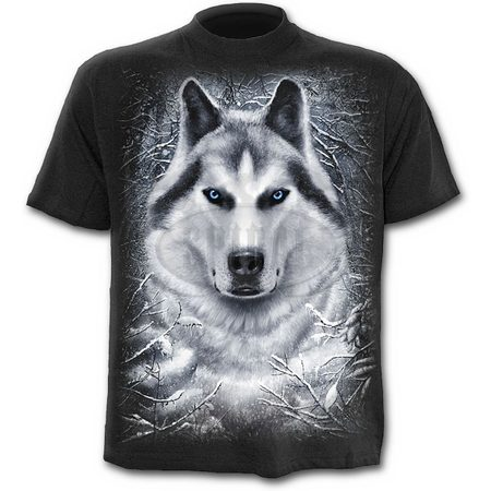 WHITE WOLF - T-Shirt Black