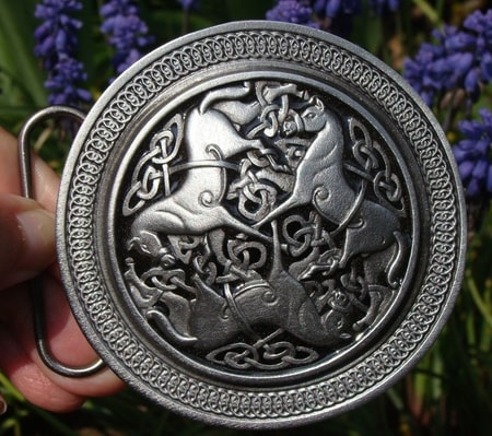CELTIC HORSES OF EPONA, belt buckle