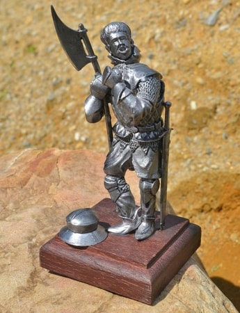 MERCENARY, historical tin statue