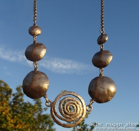 SPIRAL NECKLACE with chainlet