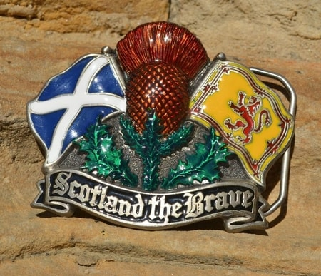 SCOTLAND THE BRAVE, belt buckle