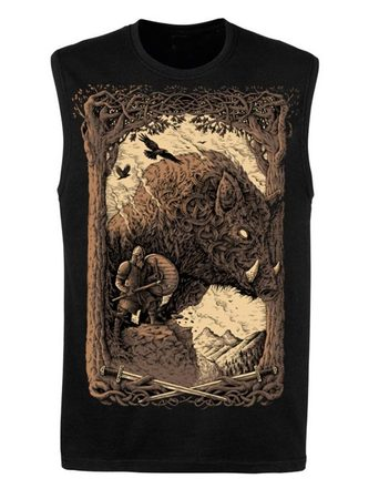 WILD BOAR SPIRIT, Tank Top