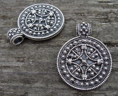 Star shield viking pendant from birka wulflund star shield viking pendant from birka aloadofball Images