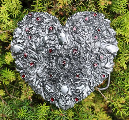 ROSE HEART, belt buckle