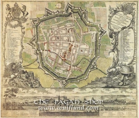 GOETTINGEN 1730, historical map, replica