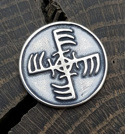 GINFAXI, Icelandic magical rune, silver