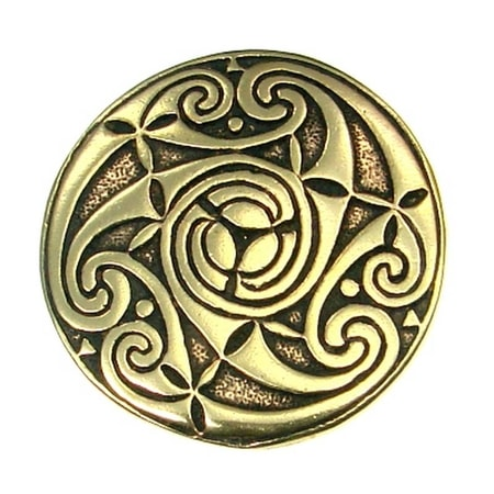 TRISKELION and LUNULAE, Celtic bronze pendant