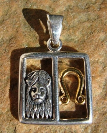 LEO, The Lion, silver pendant
