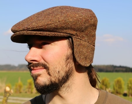 Vintage Cap Ear Flaps Tweed, Ireland