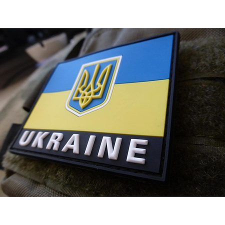 JTG - UKRAINE FLAG PATCH, FULLCOLOR 3D RUBBER PATCH