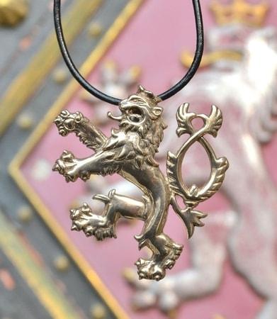 Bohemian Lion Silver Pendant Wulflund Com