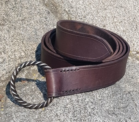 CORENTIN, leather belt with forged buckle