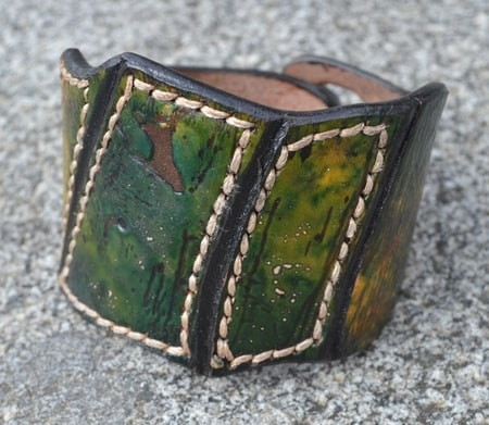 REPTILE, HANDCRAFTED LEATHER WRISTBAND