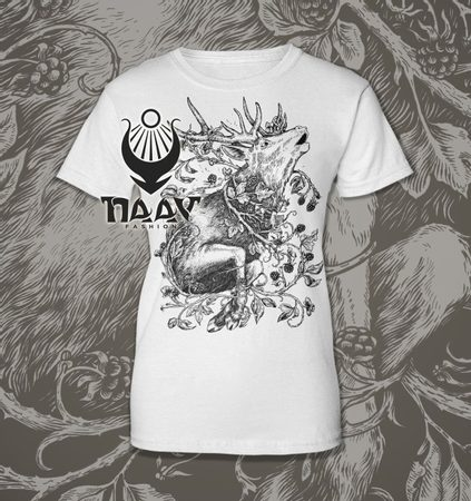 DEER, women's T-shirt white, Druid collection