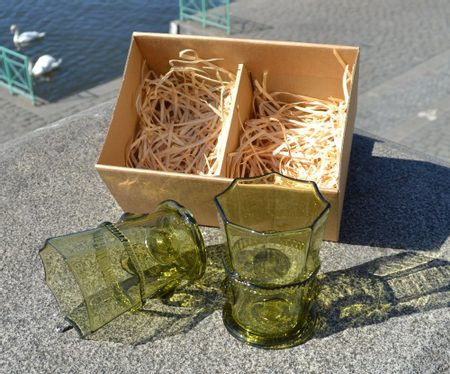 SET OF WHISKY GLASSES in a box