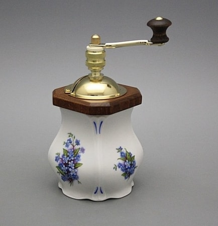 Porcelain Spice Mill Forget-me-not