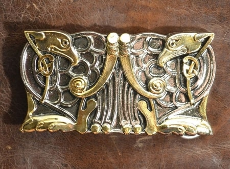 CELTIC HERONS, luxury belt buckle