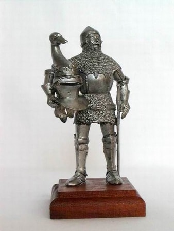 ITALIAN KNIGHT, historical tin statue