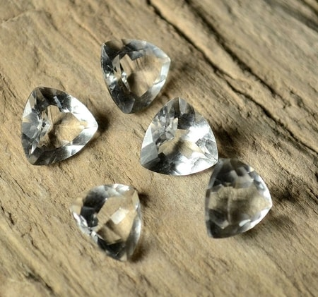CRYSTAL FACETED, TRILLION, 10 X 10 MM