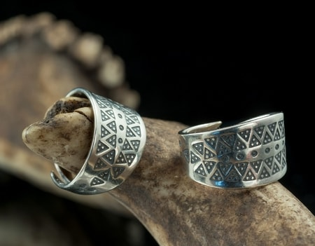 VIKING RING, sterling silver, replica