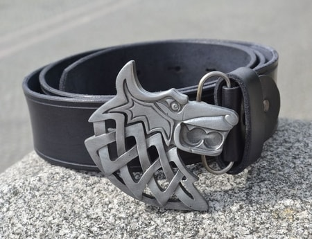 CELTIC WOLF, leather belt