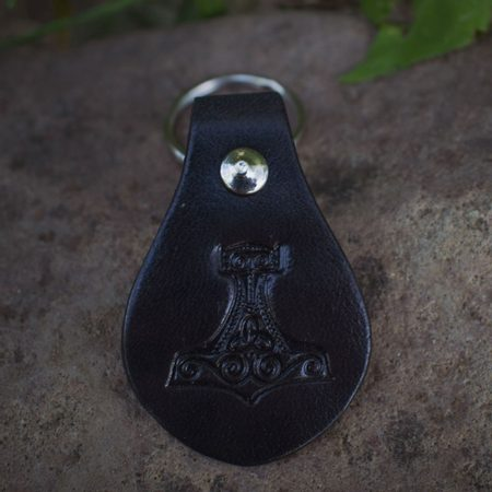 THOR'S HAMMER, KEYRING, LEATHER
