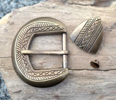 Viking Belt Set Buckle And Belt End Wulflund Com