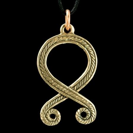 troll cross odal rune pendant bronze wulflund