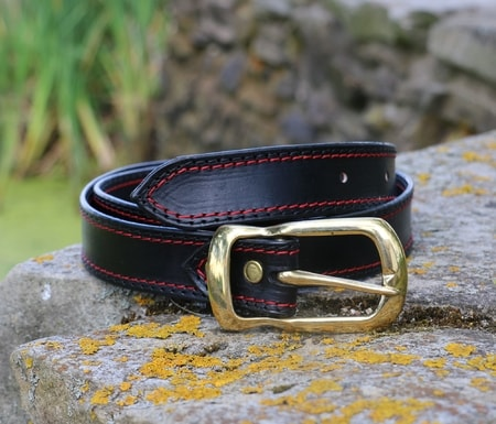 DORIAN, men's leather belt