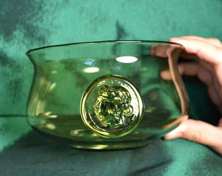HISTORICAL GLASS BOWL, inspirated by Ancient Rome