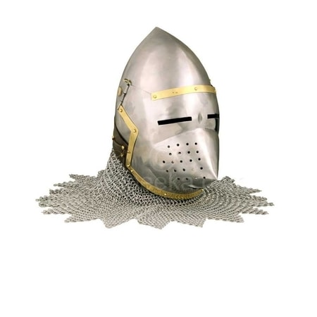 Bascinet - Pig Faced Helmet with chainmail
