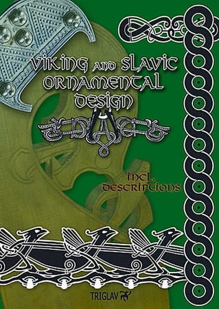 Viking and slavic ornamental design with rus add on