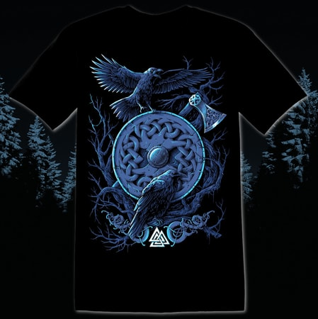 huginn and muninn viking t shirt