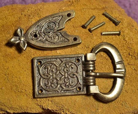 BELT BUCKLE AND BELT STRAP, Middle Ages