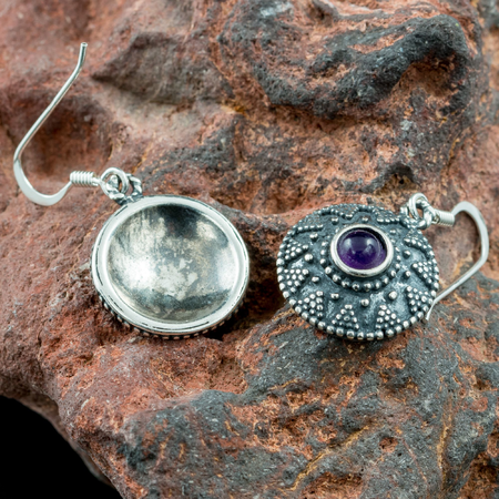ISOLDA, AMETHYST, SILVER EARRINGS