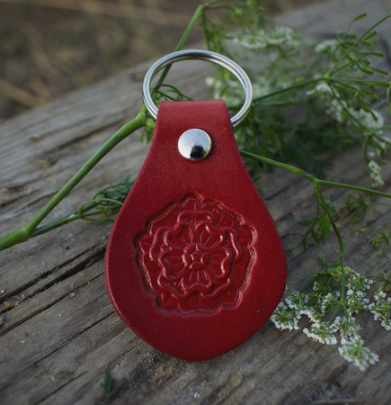 KEYCHAIN - ROSE, LEATHER
