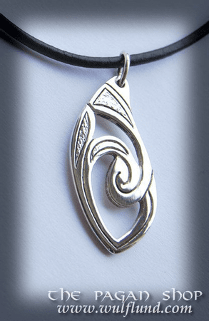 CELTIC NECKLACE, HANDCRAFTED SILVER PENDANT, XII