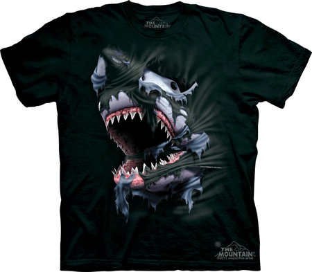 BREAKTHROUGH SHARK, THE MOUNTAIN, T-SHIRT