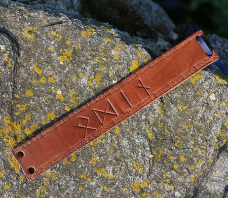 ODIN, LEATHER BRACELET, BROWN