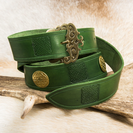 ERIN, CELTIC LEATHER BELT
