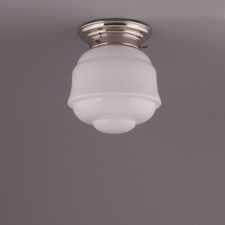 FRONTIER, CEILING LAMP, NICKEL ANGULAR FIXTURE