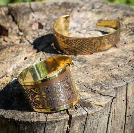 LAOISE, BRASS BANGLE, MADE IN IRELAND
